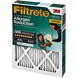 Filtrete Allergen Reduction Filter 4-Pack, 16 x 25 x 1