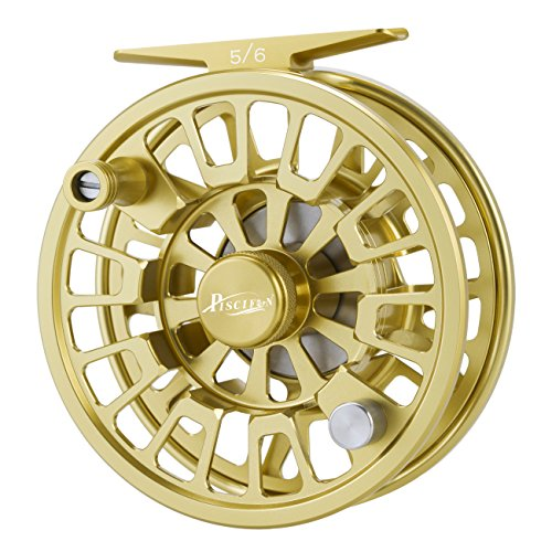 (Piscifun Blaze Mid Arbor Fly Fishing Reel with CNC-machined Aluminum Alloy Body 3/4 Gold)