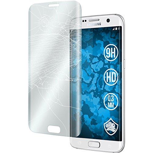 1 x Samsung Galaxy S7 Edge Glas-Folie klar full screen clear PhoneNatic Panzerglas für Galaxy S7 Edge