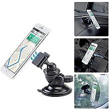 Magnetic Smartphone Holder, iKross 4-in-1 Universal Windshield / Dashboard / Air Vent / CD Slot Car Mount Cradle Holder Kit - Black