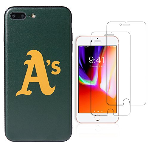 (Sportula MLB Phone Case Matching 2 Premium Screen Protectors Extra Value Set - for iPhone 7 Plus/iPhone 8 Plus (5.5