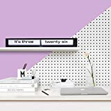 Cloudnola Texttime Black and White Metal Wall and