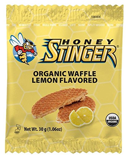 Lemon Organic Honey - Honey Stinger Organic Waffle, Lemon, 1.06 Ounce (Pack Of 16)
