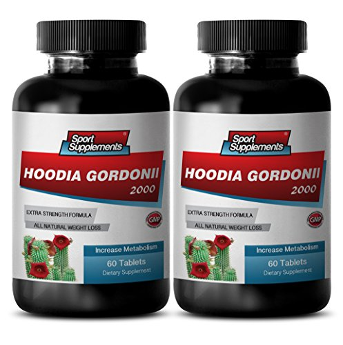 Hoodia Gordonii Cactus 2000mg Diet Natural Weight Loss & Calorie Burn (2 Bottles, 120 (Gordonii Diet Weight Loss)