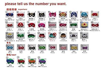 ANFLY Máscara de 20 piezas Regalo de cumpleaños para niños ...
