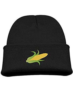 Yellow Corn On The Cob Boy Girl Beanie Hat Knitted Beanie Knit Beanie