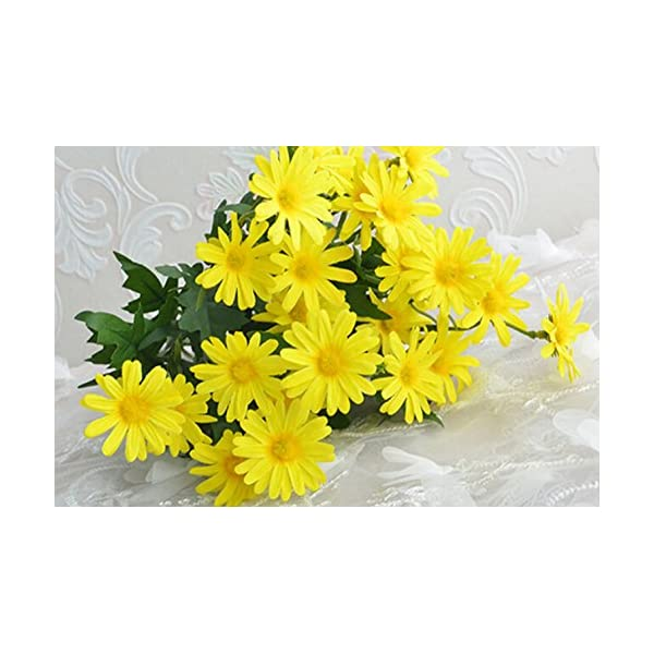 Top Estore Fake Daisy Flowers Atificial Silk Flowers Home/Party Decoration (Yellow)
