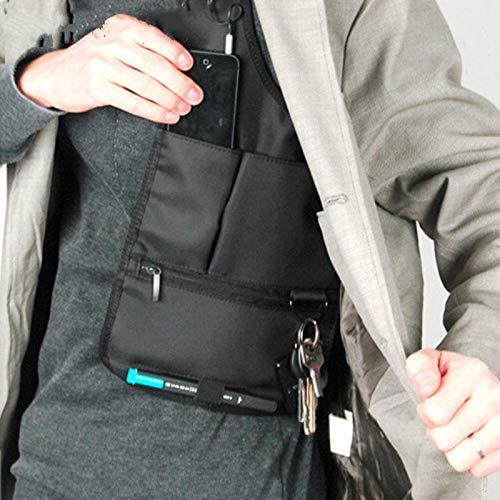 Novelty Cool Mens Travel Storage Bag FBI Hidden Underarm Pocket MP3 Passports Mobile Phone Organizer by Sun Vale (Image #4)