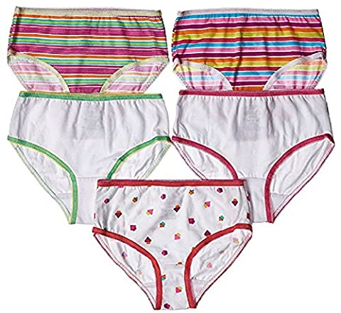 Trimfit Girls Cupcake Briefs In Assorted Prints 100% Combed Cotton (5 Pack) - Pink Cupcake Print
