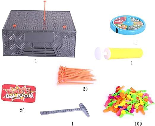 RG-FA 1 Set Explosive Balloon Smash Juego Divertido Estimulante Thriller Juegos de Mesa Niños Juguete complicado: Amazon.es: Productos para mascotas