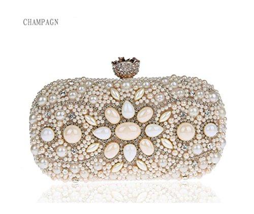 De Bandoulière Champagne Mode Épaule Bags Main Clutch Chaîne Mini Diamants Perle À Womens Soirée Sac xpnq0TIYw