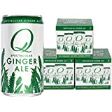 Q Drinks, Q Ginger Ale, Spectacular Ginger Ale, Premium Mixer, 7.5 Ounce Slim Can (Pack of 12)
