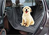 Pettom Waterproof Hammock Pet Seat Cover Protector for Rear Back Bench Seat Deluxe Non-Slip Backing with Seat Anchors Fits Cars Trucks Veichle SUV (Grey Bench Seat Cover 64