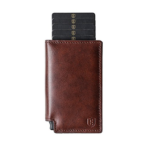 Ekster: Parliament Slim Leather Wallet- RFID Blocking- Quick Card Access