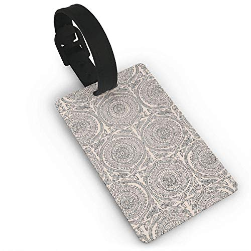 Kuytresdf Sundial White Luggage Tags with Print for Suitcases,Flexible PVC Travel ID Sturdy Identification,Travel Accessories Suitcase Tags Apply 3.7 X 2.2 in Size 2.2 X 3.7 - Sundial Turtle