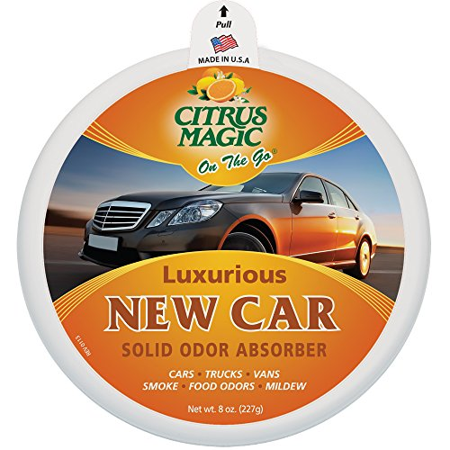 Citrus Magic On The Go Solid Air Absorber Luxurious New Car, Pack of 3, 8-Ounces Each