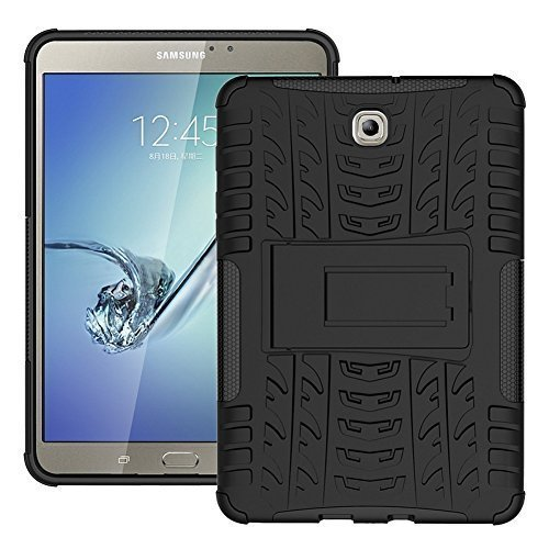 - DWaybox Case Tab S2 8.0 T710 Hybrid Armor Design with Stand Feature Detachable Dual Layer Protective Shell Hard Back Cover Case for Samsung Galaxy Tab S2 8.0inches SM-T710 / T715 (Black)