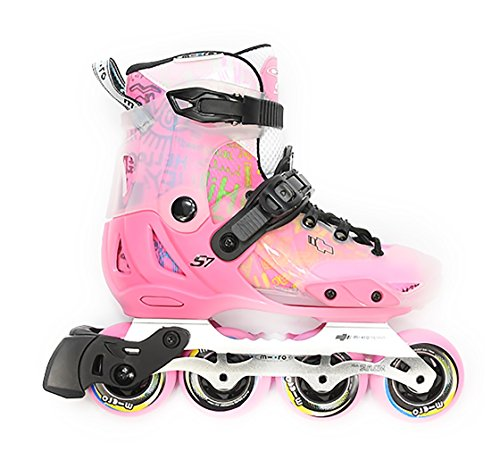 MICRO SKATES S7 Pink 2018 - Kids Adjustable Inline Skates from Famous Scooter Brand (EU29-32 (US jr12-1))