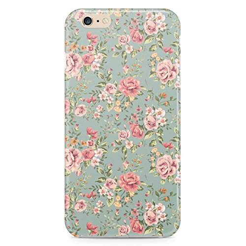 Phone Case For Apple iPhone 6 Plus - Pastel Floral Wallpaper Glossy Lightweight