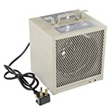 TPI Corporation HF5848TC Garage/Workshop Fan Forced Portable Heater, 4800/3600 Watts, 240/208 Volts, Includes Wall/Ceiling Bracket, Built-in Thermostat, 30 Amp Cordset