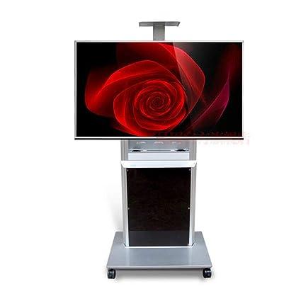 Exing Soporte De TV, con Ruedas Enrollable Universal TV Mobile Cart Televisión Montaje Flexible Cable