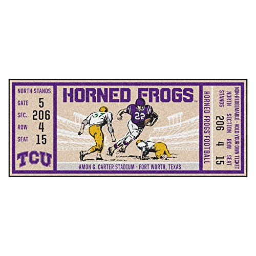 FANMATS NCAA TCU Horned Frogs Texas Christian Universityticket Runner, Team Color, One Size ()