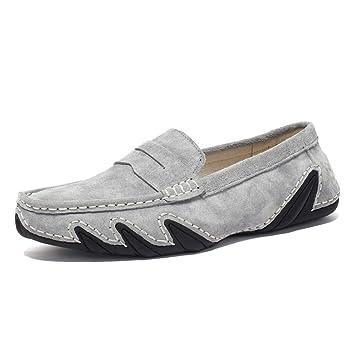 FuweiEncore Zapatos 2018 Zapatillas para Hombre Mocasines Planos Ocasionales The Octopus Soft Bottom Mocasines Transpirables, Gris, 40 (Color : como se ...