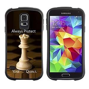 Paccase / Suave TPU GEL Caso Carcasa de Protección Funda para - chess queen protect England strategy - Samsung Galaxy S5 SM-G900