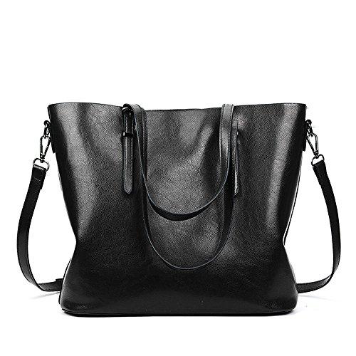 Meaeo Shoulder Bag Large Capacity Single Shoulder Bag Brown Black