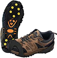 Milaloko Ice Grips, Ice & Snow Grips Cleat Over Shoe/Pro Winter Ice Grips for Shoes and Boots - 10 Tractio