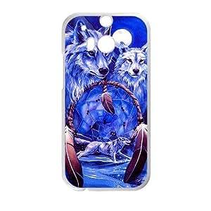 Custom Fantasy Wild Wolf Dream Catcher Protective Skin Case for HTC One M8