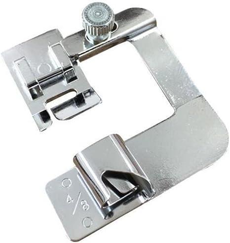 Exceart 1 Set//6 Pcs Hemming Foot Kit Sewing Machine Presser Foot Hemmer for Low Shank Sewing Machine Use Rolled Hem Presser Foot