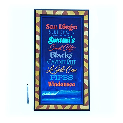 Surf art san diego hand painted by Chuck Peterson Designs