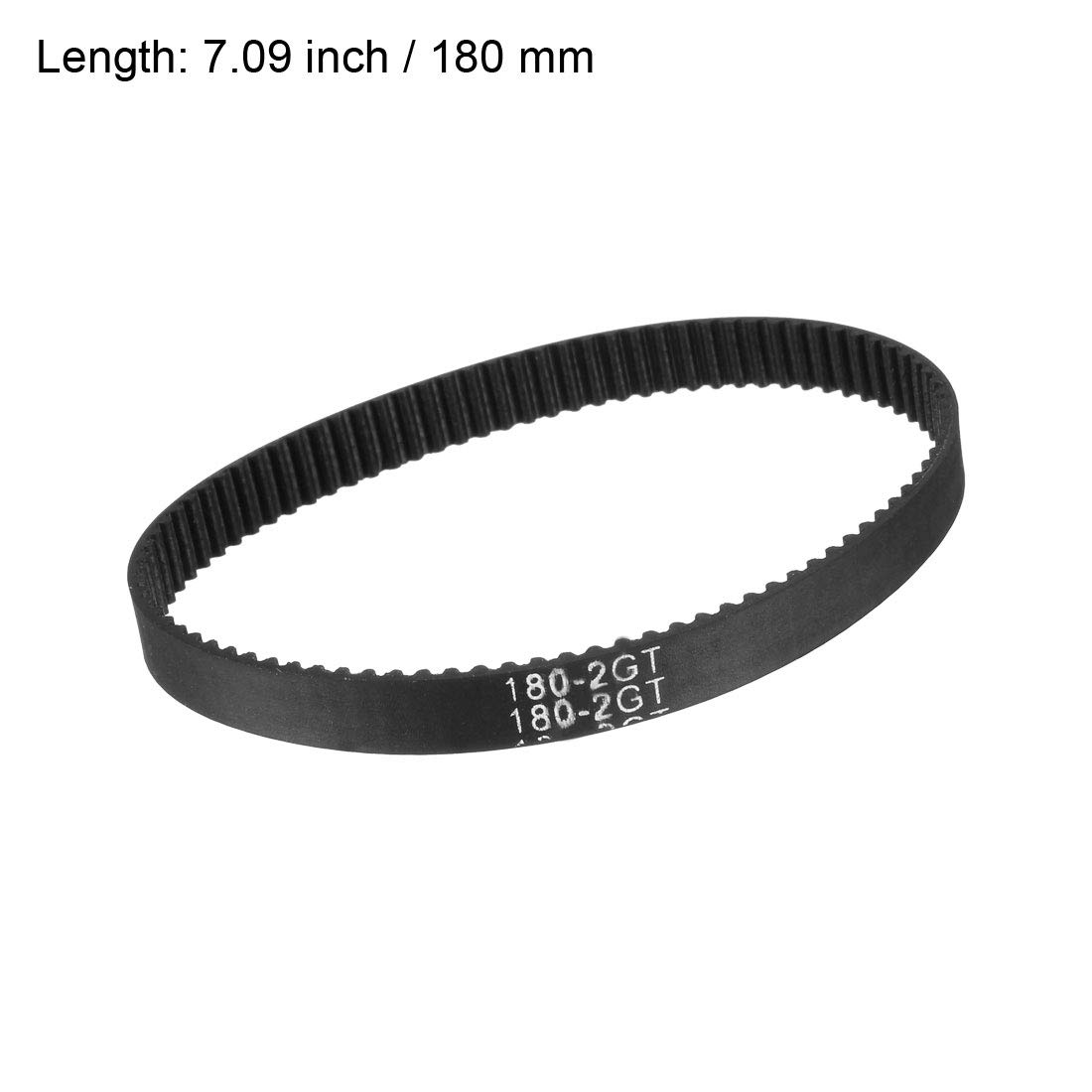 sourcing map GT2 Timing Belt 460mm Closed Fit Synchronous Wheel for 3D Printer