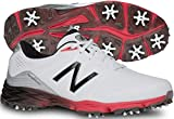 New Balance Men's nbg2004 Golf Shoe, White/Red, 11 D US