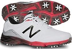 New Balance Men's Nbg2004 Golf Shoe, Whitered, 10.5 2e Us