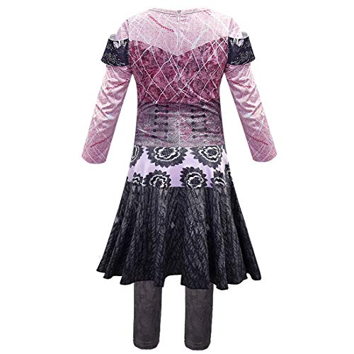 QYS Disfraz de Halloween Party City Audrey para niñas, descendientes 3, Incluye Accesorios,120cm