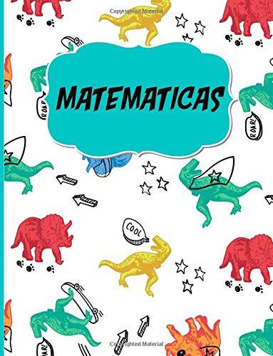 Matematicas Libreta Cuadriculada escolar/ Ideal para practicar escritura numeros/ Hoja cuadros 0.5 in /120 paginas/8.5 x 11 in  [Poblana Journals, Casa] (Tapa Blanda)
