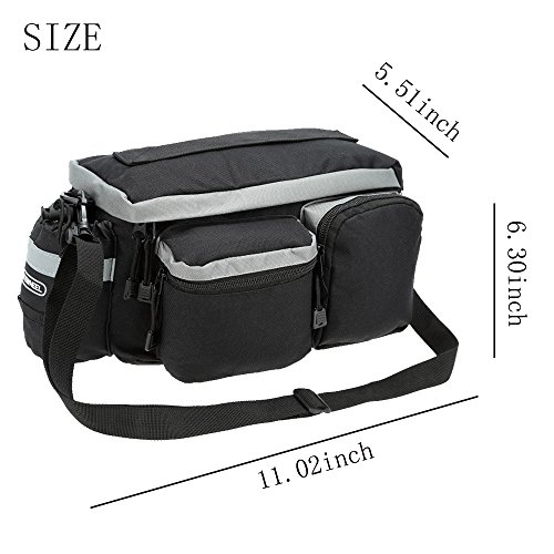 Onedayshop Multi Function Mountain Road Bicycle Bike Cycling Sport Waterproof 7L Rear Seat Bag Pannier Trunk Bag Bicycle Accessories by Onedayshop (Image #1)