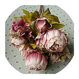 Flower European Style Core Five Colors High Grade Artificial Flowers Decorative Wedding Party Bridal Bouquet,2 5