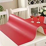 Thickened solid color table ma