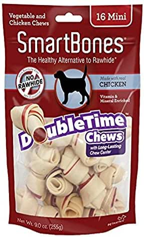 Dog Treats: SmartBones DoubleTime Chews
