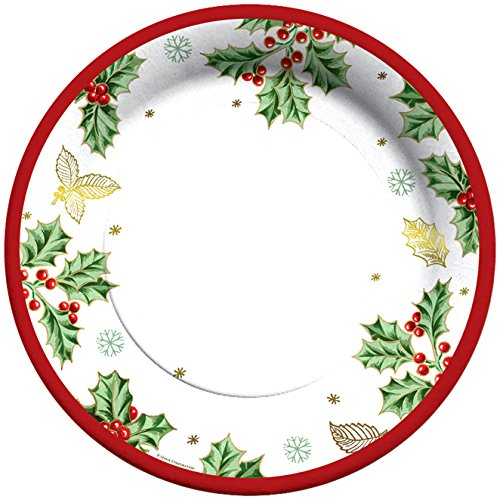 C.R. Gibson 8 Count Decorative Paper Dinner Plates, By Lenox, Easy Clean Up, Measures 10.5