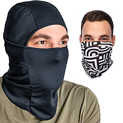 Balaclava Ski Mask: Full Face Mask + Headband - Motorcyle Mask - Tactical Hood