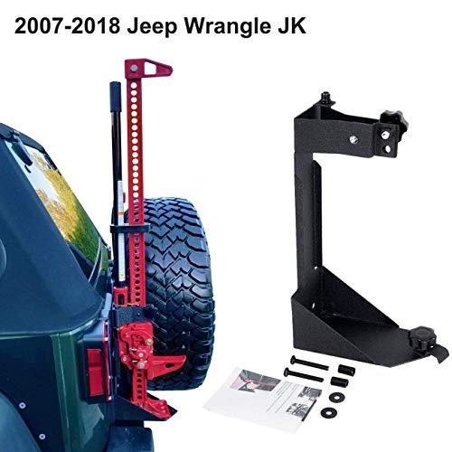 ALAVENTE Off-Road High Lift Jack Mount Spacer Bracket Rear High Lift Mounting Kit for Jeep Wrangler JK 2007-2017 ()