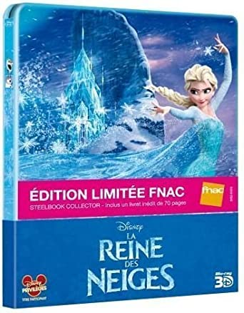 Frozen France FNAC Limited Exclusive Blu-Ray 3D + 2D Steelbook Edition + 70 Pages Book Region Free: Amazon.es: Cine y Series TV