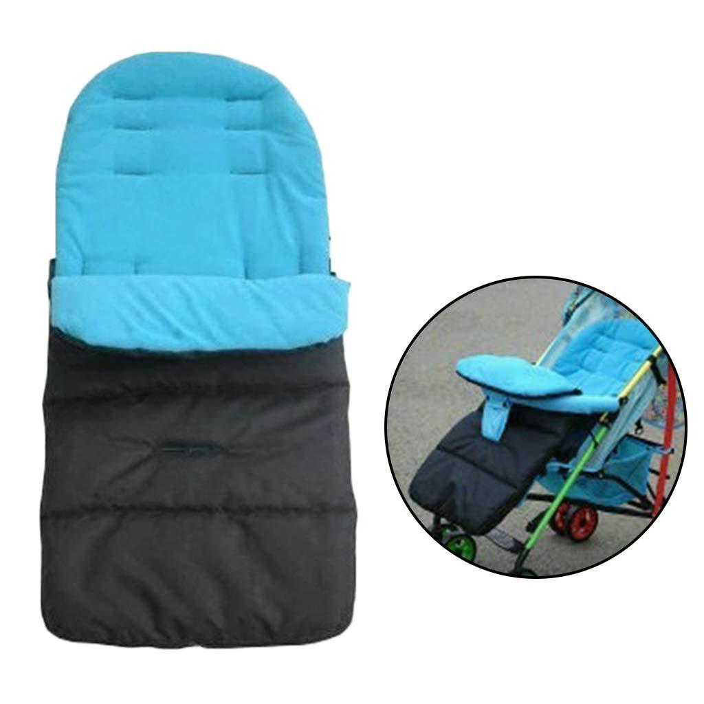 impermeable Saco de dormir multifunci/ón para cochecito de beb/é para ni/ños c/álido azul resistente al viento con ruedas gruesas