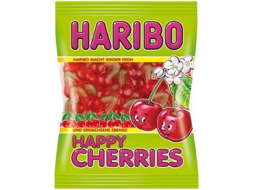 4x Haribo HAPPY CHERRIES each Bag 200g (German Import)