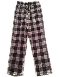 Microfleece Pajama Pants Mens Small Gray Plaid