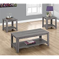 Monarch I 7991P 3 Piece Table Set, Grey